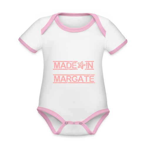 Made in Margate - Pink - Organic Baby Contrasting Bodysuit