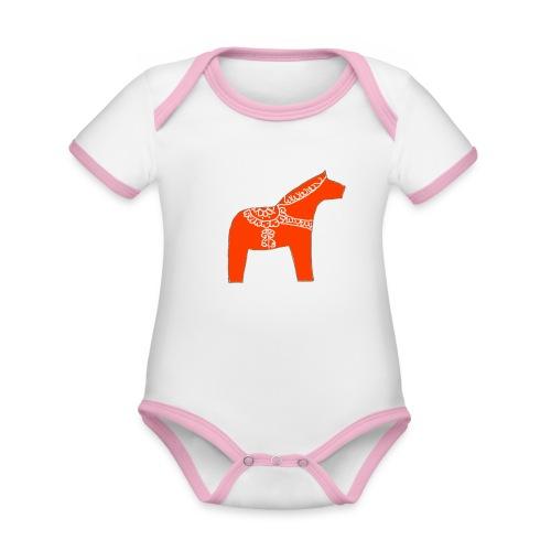 Dala by Pinni Art® rot - Baby Bio-Kurzarm-Kontrastbody