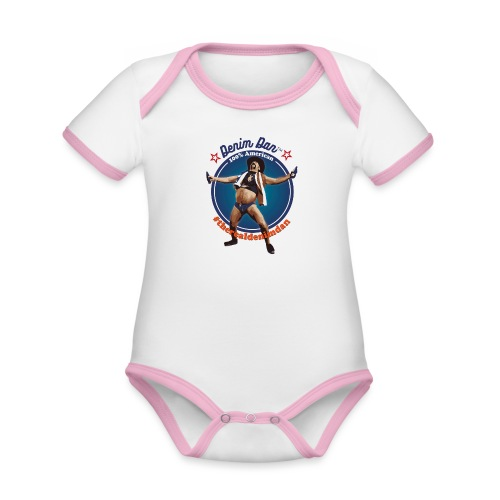 Denim Dan - Ekologisk kontrastfärgad kortärmad babybody