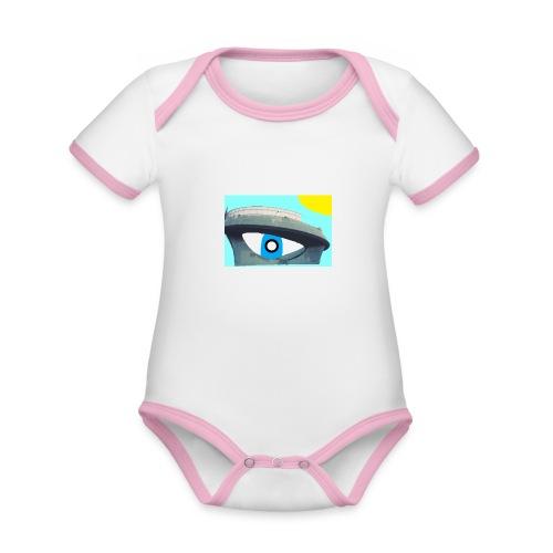 fantasimm 2 - Body da neonato a manica corta, ecologico e in contrasto cromatico
