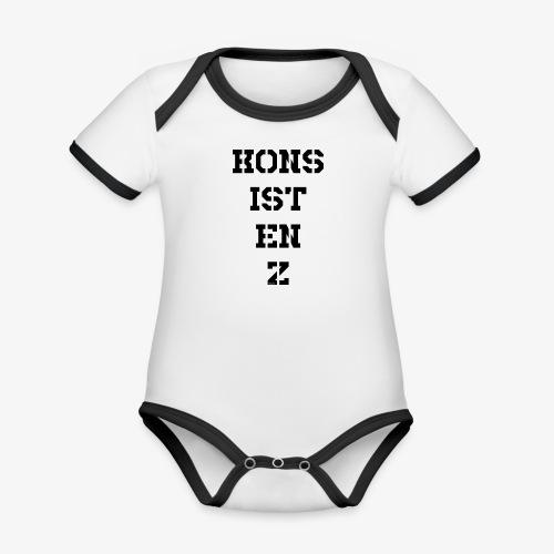 Konsistenz - schwarz - Baby Bio-Kurzarm-Kontrastbody