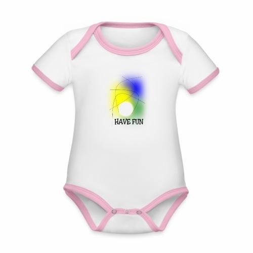 Have Fun - Organic Baby Contrasting Bodysuit