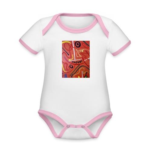 Antonius' Afrika2 - Body contraste para bebé de tejido orgánico