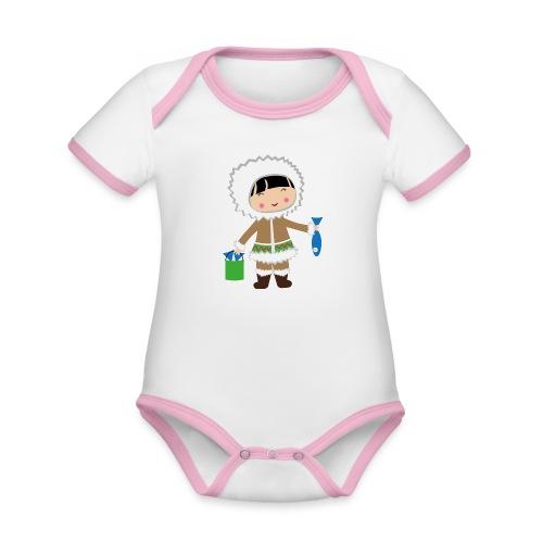 Happy Meitlis - Alaska - Baby Bio-Kurzarm-Kontrastbody