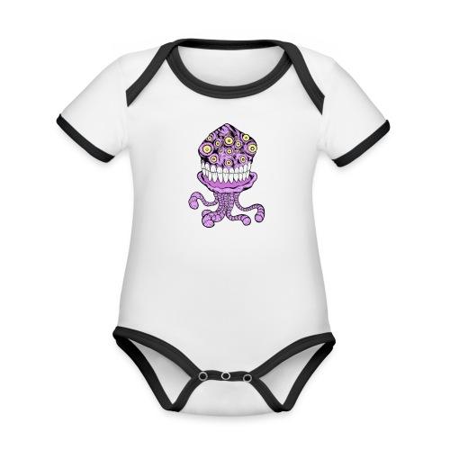 alien - Ekologisk kontrastfärgad kortärmad babybody