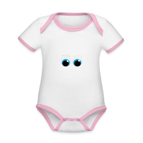ojitos lindos - Body contraste para bebé de tejido orgánico