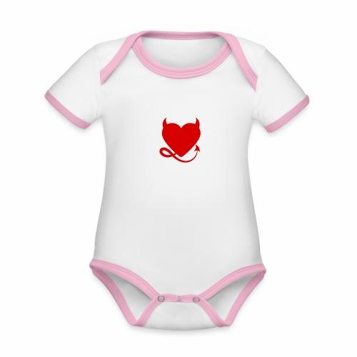 diablita - Body contraste para bebé de tejido orgánico