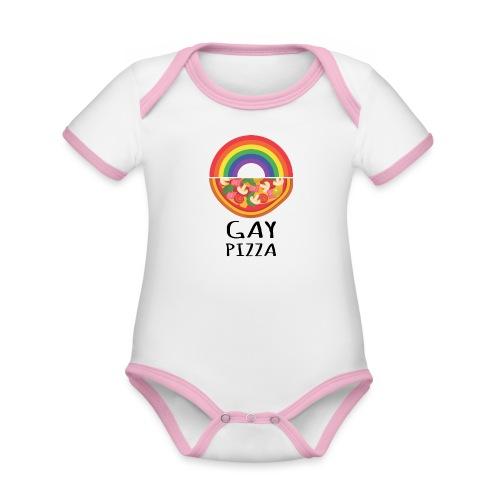 Gay Pizza | Pride | LGBTQIA - Baby Bio-Kurzarm-Kontrastbody