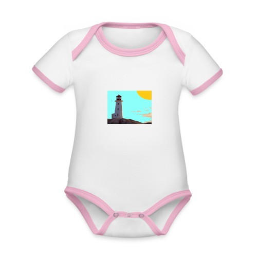 fantasimm 1 - Body da neonato a manica corta, ecologico e in contrasto cromatico