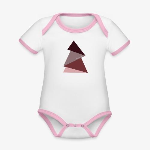 fir triangles 2 - Organic Baby Contrasting Bodysuit