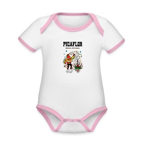 picaflormezcal - Økologisk kortermet kontrast-babybody