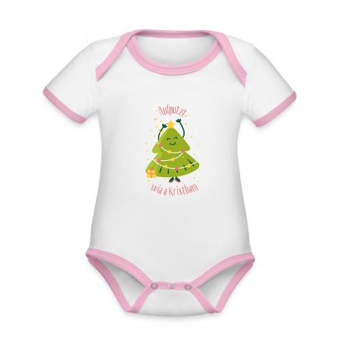 Vorschau: Aufputzt wia a Kristbam - Baby Bio-Kurzarm-Kontrastbody