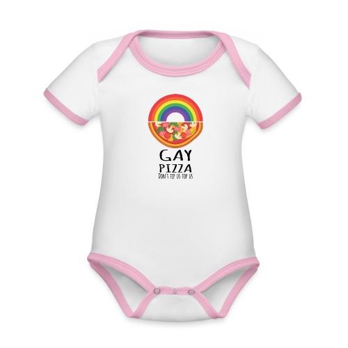 Gay Pizza | LGBT | Pride - Baby Bio-Kurzarm-Kontrastbody