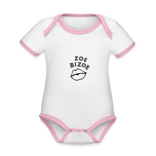 ZOE logo kus - Body Bébé bio contrasté manches courtes