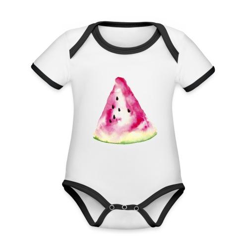 Wassermelone - Organic Baby Contrasting Bodysuit