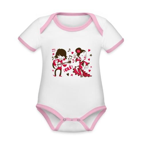 GITANILLOS - Body contraste para bebé de tejido orgánico