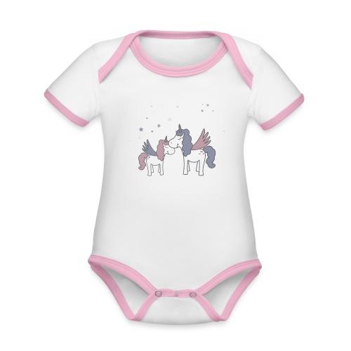 Little Unicorn - Baby Bio-Kurzarm-Kontrastbody