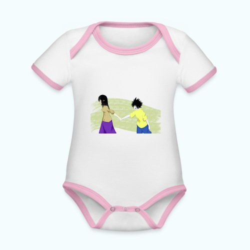 WHERE? Real drawing - Organic Baby Contrasting Bodysuit