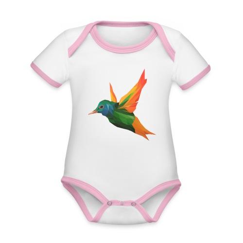 EXOTIC BIRD - MINIMALIST - Body Bébé bio contrasté manches courtes