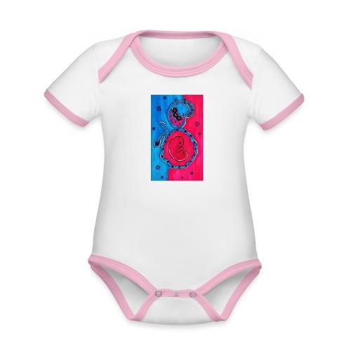 Born - Vauvan kontrastivärinen, lyhythihainen luomu-body