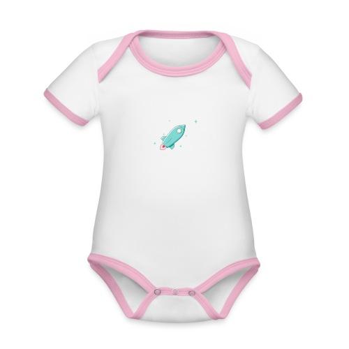 present by Rocket - Baby Bio-Kurzarm-Kontrastbody