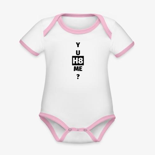 YU H8 ME dark - Organic Baby Contrasting Bodysuit