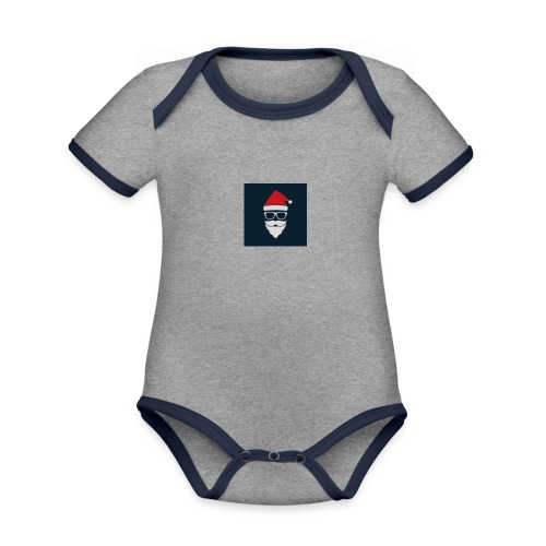 Trap Navideño - Body contraste para bebé de tejido orgánico
