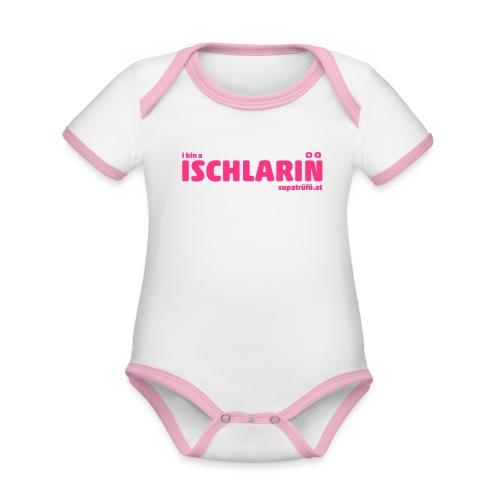 supatrüfö ISCHLARIN - Baby Bio-Kurzarm-Kontrastbody