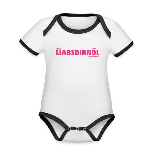 supatrüfö LIABSDIRNDL - Baby Bio-Kurzarm-Kontrastbody