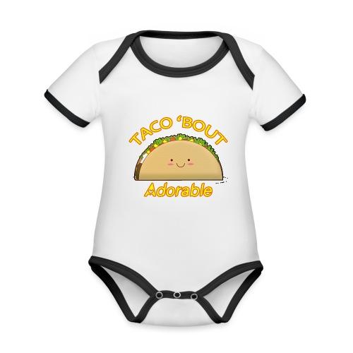 taco - Body da neonato a manica corta, ecologico e in contrasto cromatico