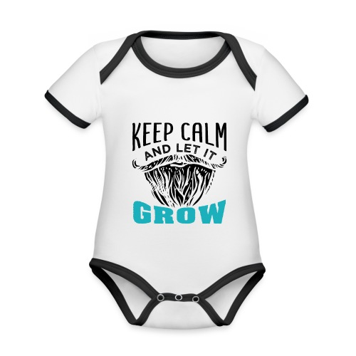 Beard Keep Calm And Let It Grow - Baby Bio-Kurzarm-Kontrastbody