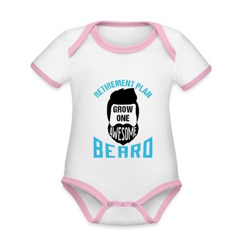 Retirement Plan Grow One Awesome Beard - Baby Bio-Kurzarm-Kontrastbody