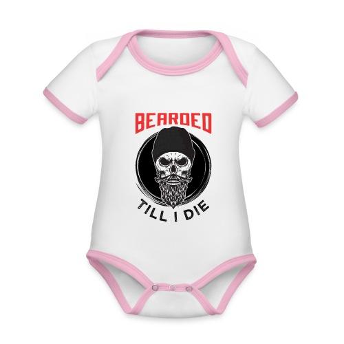 Bearded Till I Die - Baby Bio-Kurzarm-Kontrastbody