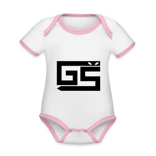 logo gaming-serv - Body Bébé bio contrasté manches courtes
