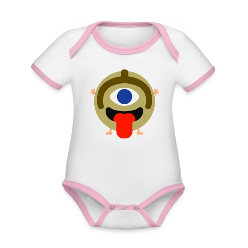 BAKEZORI - Body Bébé bio contrasté manches courtes