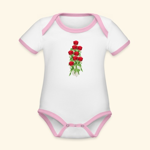 rote rosen - Baby Bio-Kurzarm-Kontrastbody