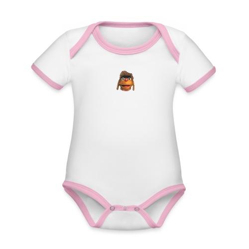 Moppi 3D - Baby Bio-Kurzarm-Kontrastbody