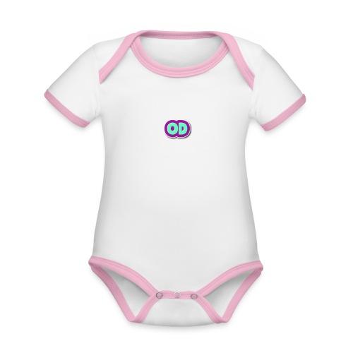 od mallisto - Vauvan kontrastivärinen, lyhythihainen luomu-body