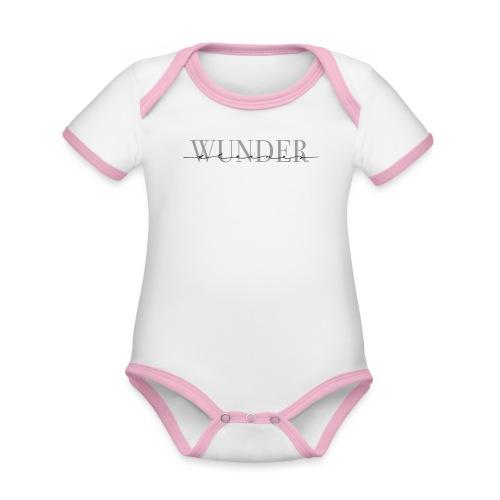 Kleines Wunder – Baby Kollektion - Baby Bio-Kurzarm-Kontrastbody