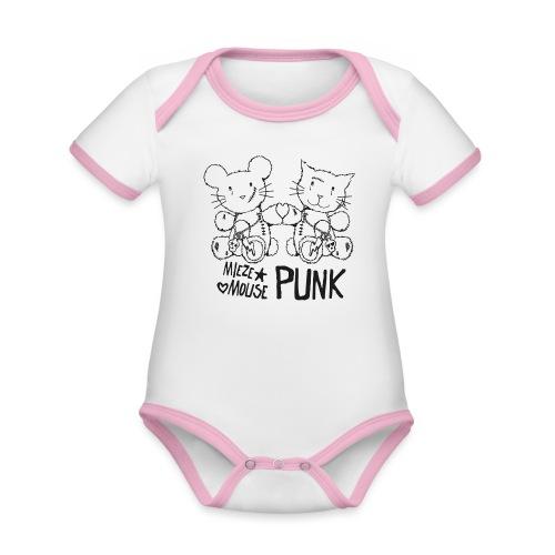 MIEZEMOUSE PUNK - Baby Bio-Kurzarm-Kontrastbody