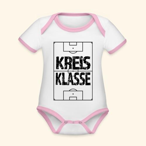 KREISKLASSE im Fußballfeld - Baby Bio-Kurzarm-Kontrastbody