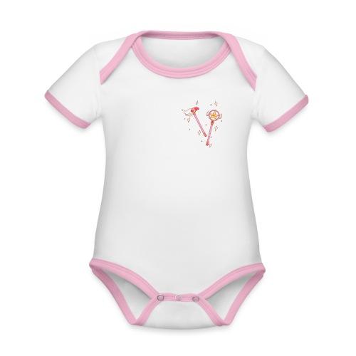 MagicSakura - Body contraste para bebé de tejido orgánico