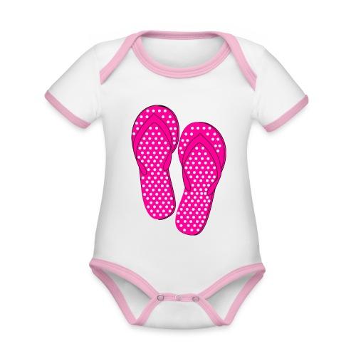 Slippers - Baby Bio-Kurzarm-Kontrastbody
