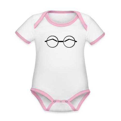 Glasses - Ekologisk kontrastfärgad kortärmad babybody