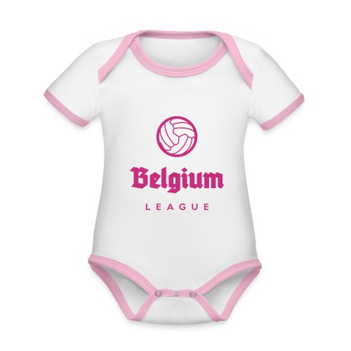 Belgium football league belgië - belgique - Body Bébé bio contrasté manches courtes