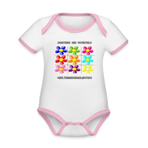 logo of my #MultiDimensionalMotors blog - Body da neonato a manica corta, ecologico e in contrasto cromatico