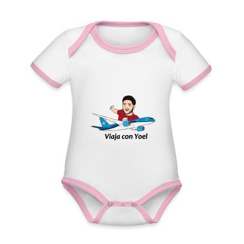 Frequent Flyer Red Viaja con Yoel - Body contraste para bebé de tejido orgánico