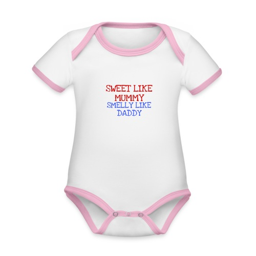Smelly bum - Organic Baby Contrasting Bodysuit
