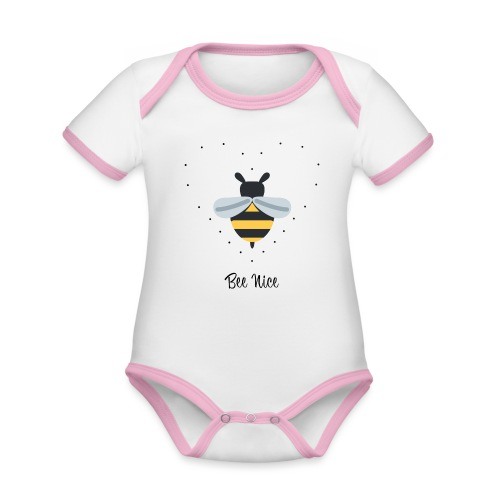 Bee Nice - Save the bees! - Baby Bio-Kurzarm-Kontrastbody