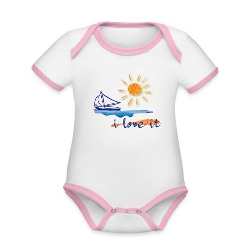 Urlaub, Sommer - Baby Bio-Kurzarm-Kontrastbody